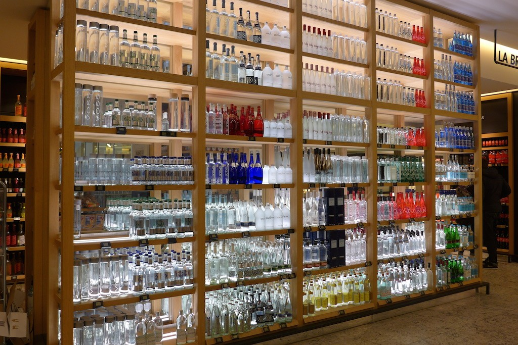 Mineral waters at La Grande Epicerie de Paris