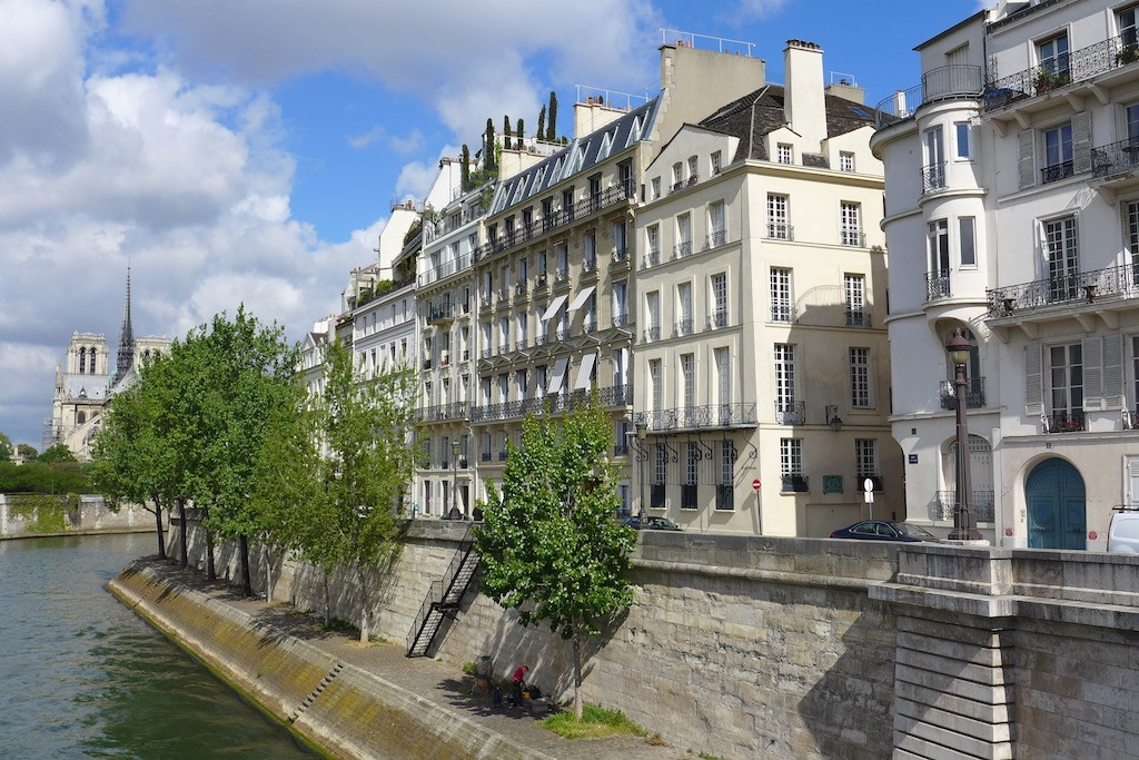 Ile saint louis Paris-quai Orleans