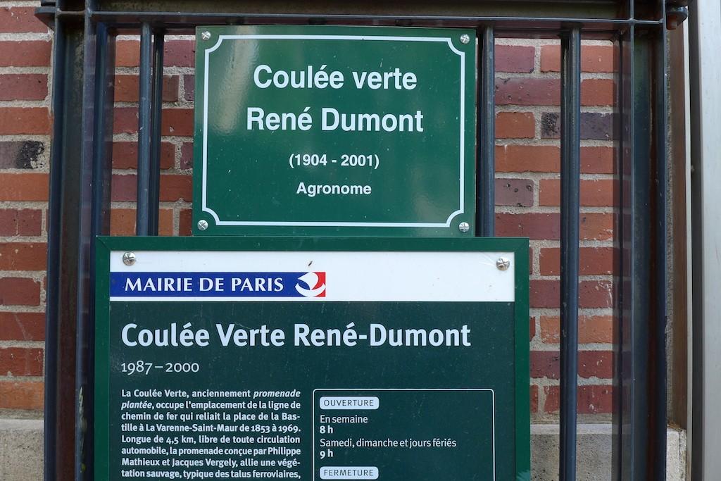 Promenade plantee Paris-panneau Entree