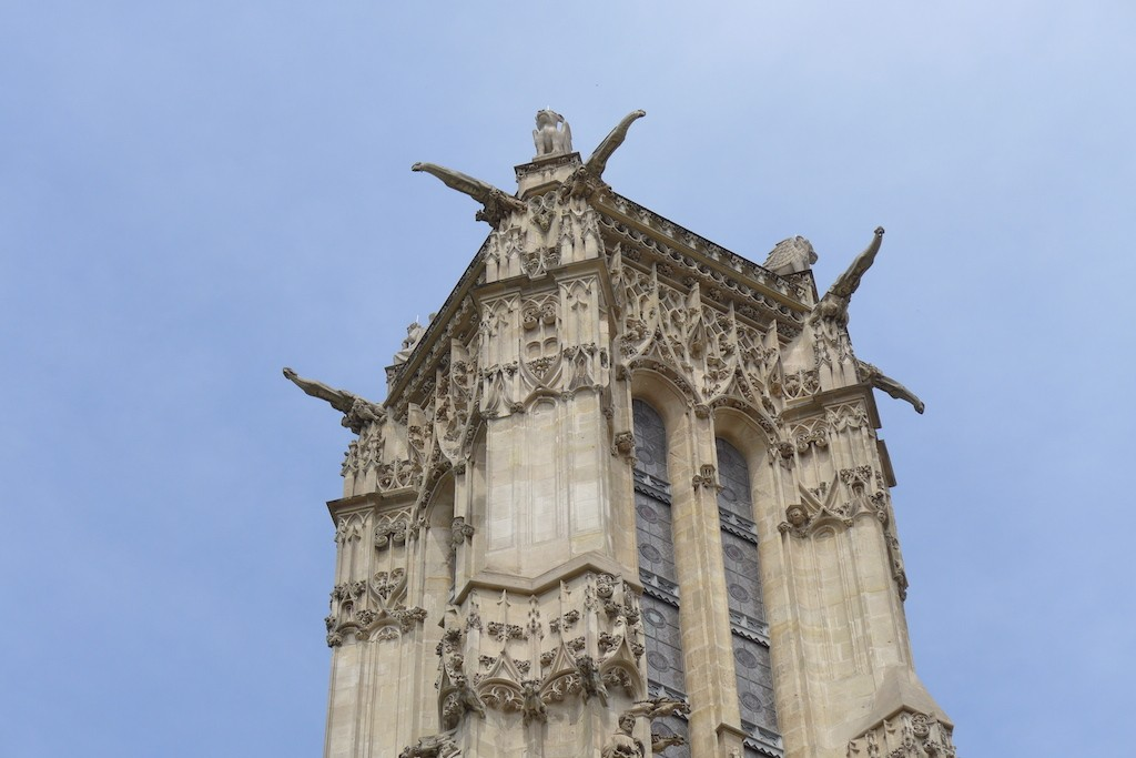 Gargoyles on the top of the Tour Saint Jacques