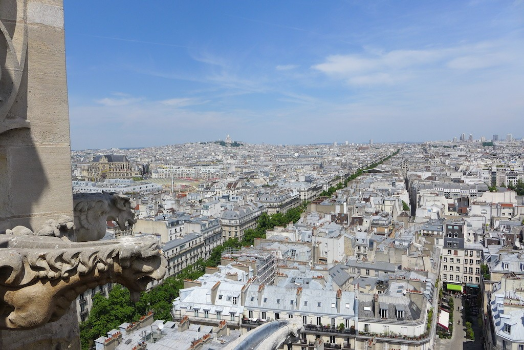 Tour Saint Jacques - View over Paris: towards North