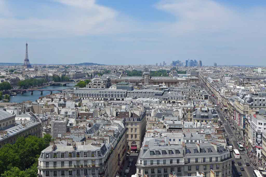 Tour Saint Jacques - View over Paris: towards West