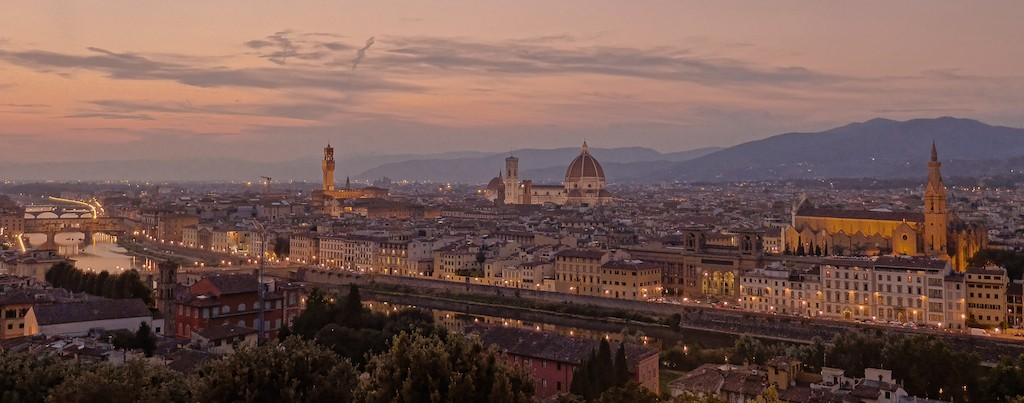 Florence-View at sunset