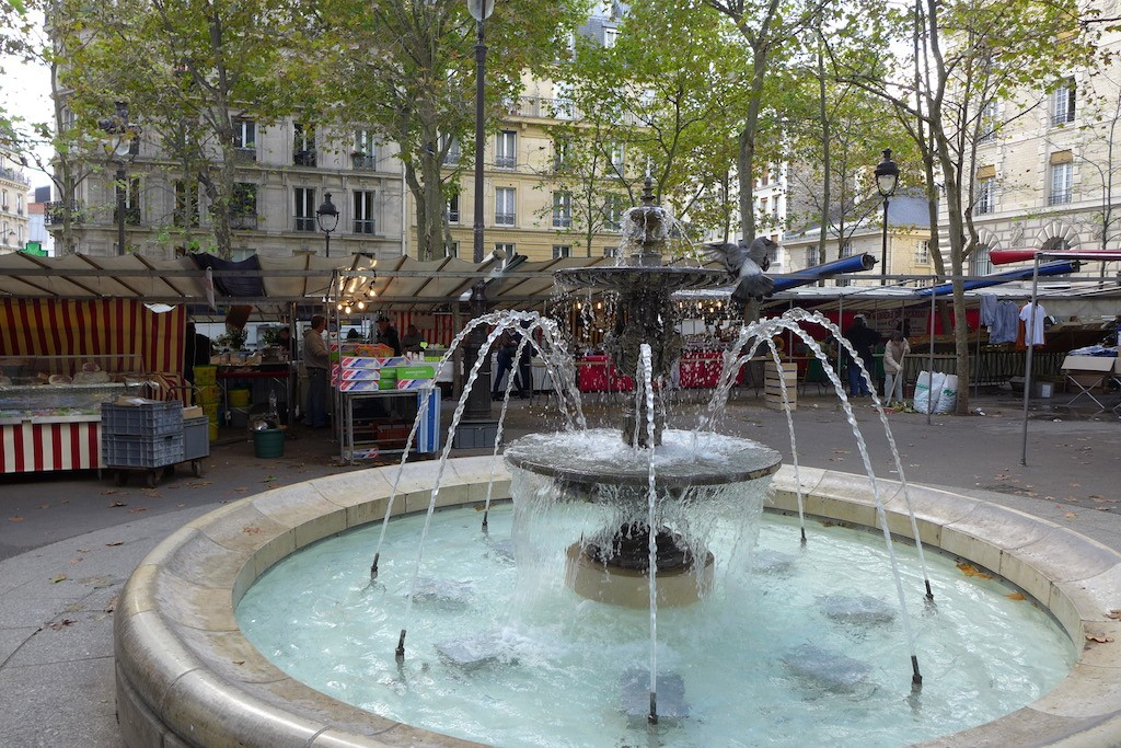 Paris-Place Monge-the food market