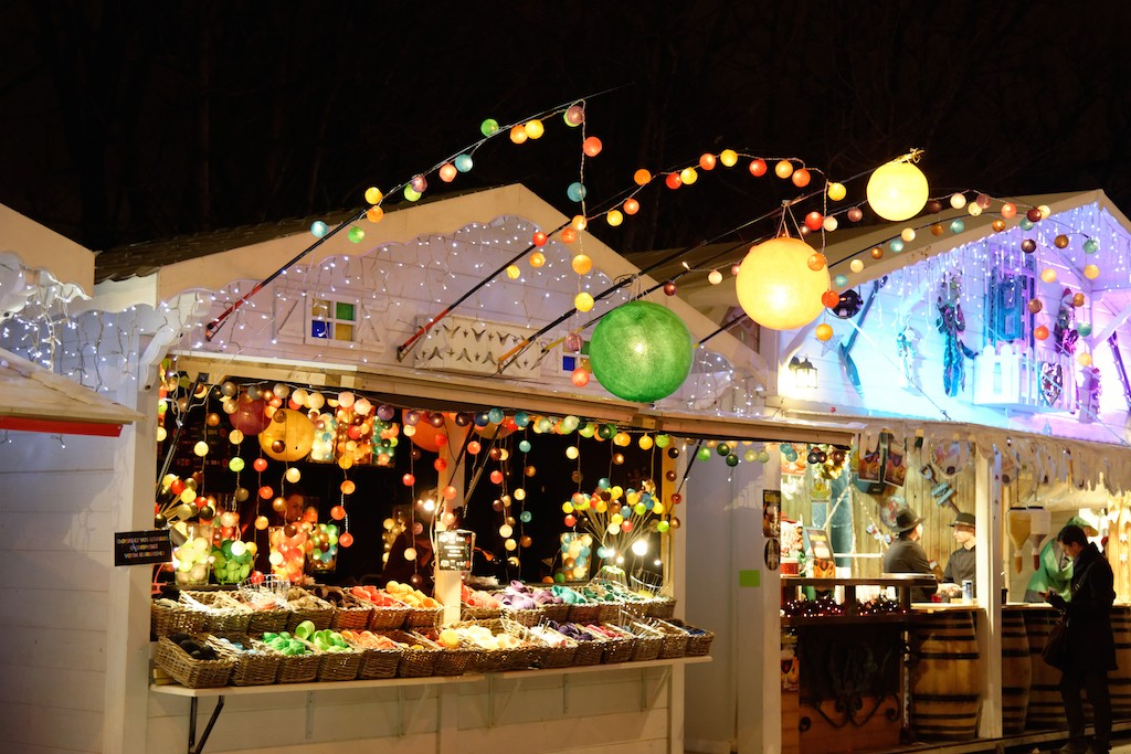 Festive Season - Paris - A wooden chalet on a Christmas market