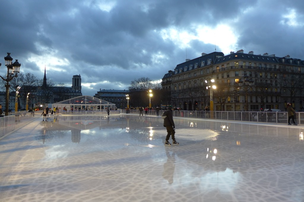 Festive Season - Paris - The Ice rink near the Hotel de Ville in 2014