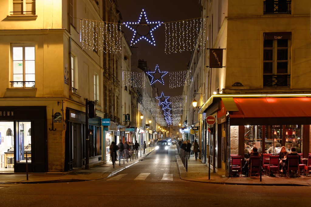 Festive Season - Paris - The rue des Francs Bourgeois in the Marais