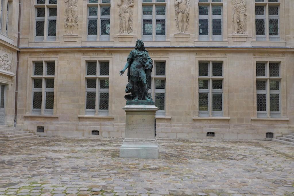 Carnavalet Museum Paris-The yard of the Hotel le Peletier de Saint Fargeau