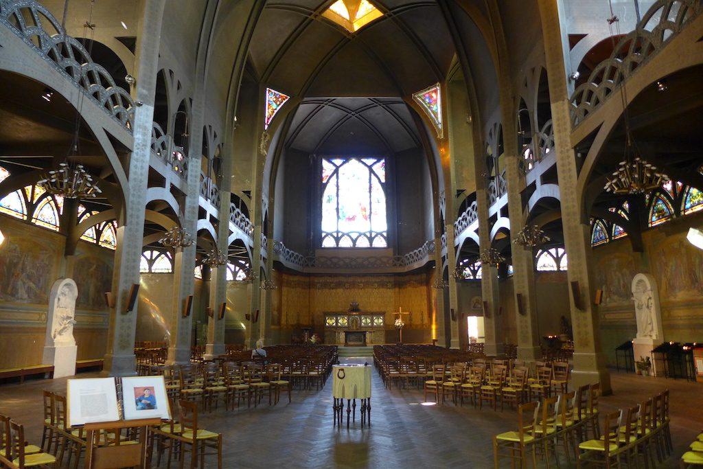 Montmartre-Paris-Eglise Saint Jean l'Evangeliste-Inside