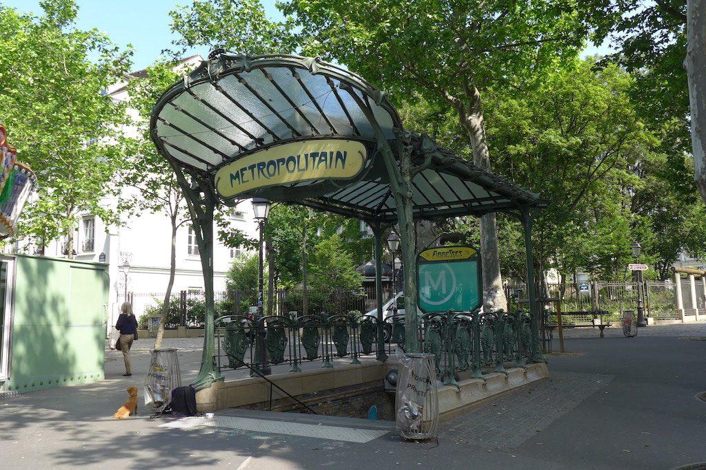 Montmartre-Paris-Metro Abbesses-Art Nouveau