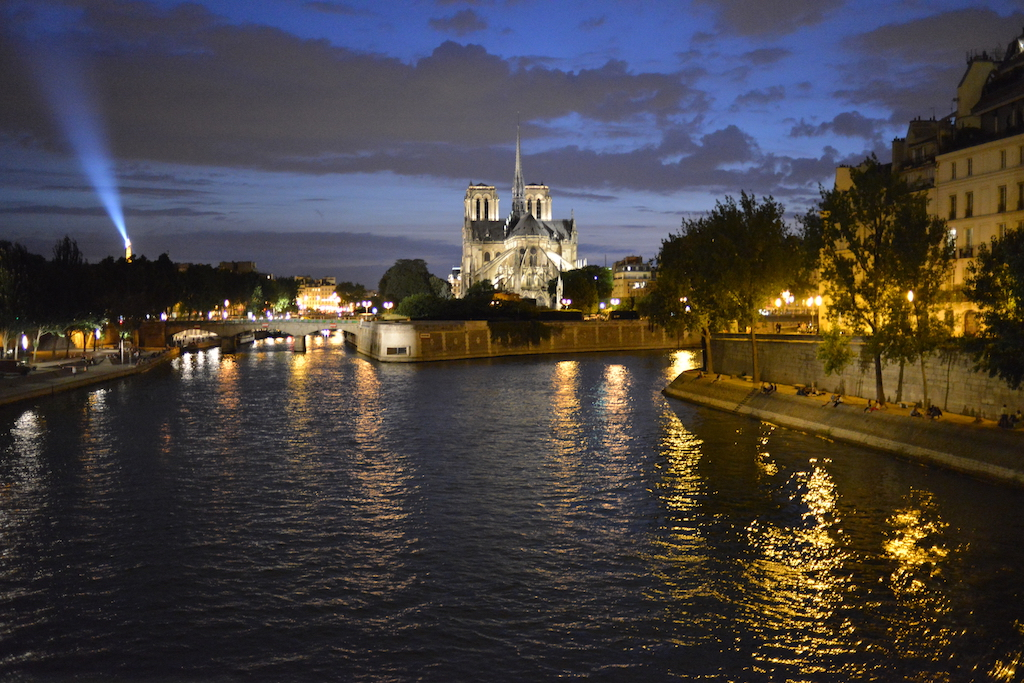 Paris Plages-View on Notre Dame from the Pont de la Tournelle