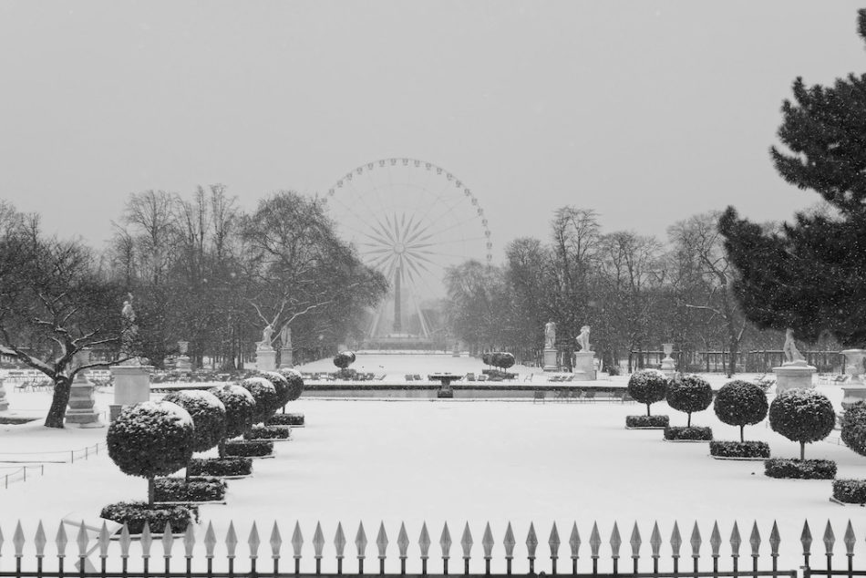 The Tuileries Garden under the Snow - Paris - February 2018